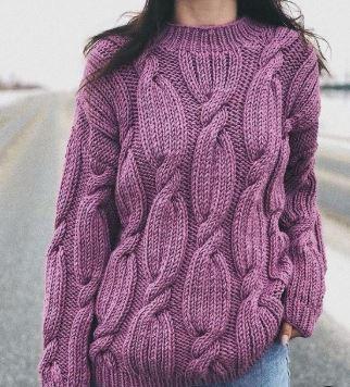 свитер оверсайз спицами