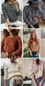 вязаные свитера оверсайз схемы