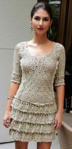 платье крючком схема