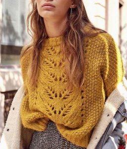пуловер спицами схема