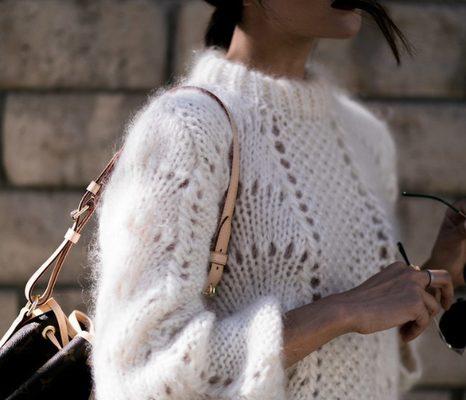 схема свитера с жемчужным узором