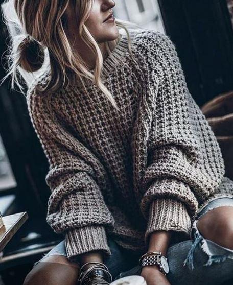 свитер крупной вязки спицами схемы