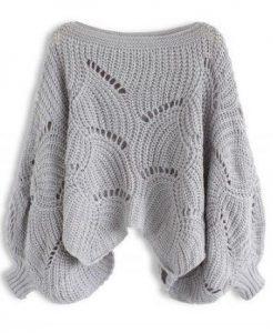 свитер оверсайз спицами схема