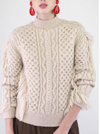 свитер с аранми спицами схема