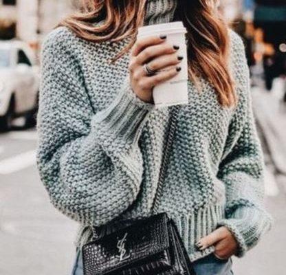 свитер с жемчужным узором