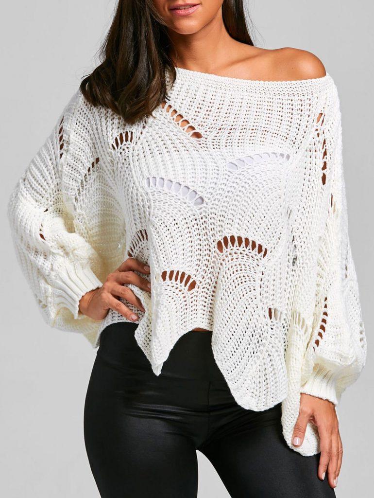 свитер спицами оверсайз схема