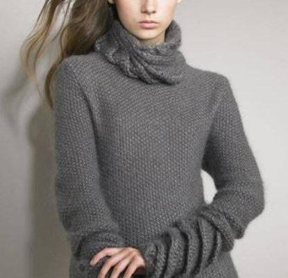 свитер жемчужным узором