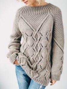 свитера вязаные спицами схемы 2019
