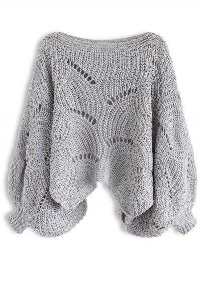 вязание свитера оверсайз