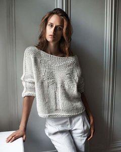 вязаный свитер с пальмой схема