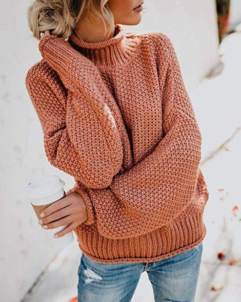 вязаный свитер спицами жемчужным узором