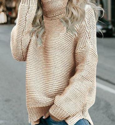 свитер платочной вязкой оверсайз