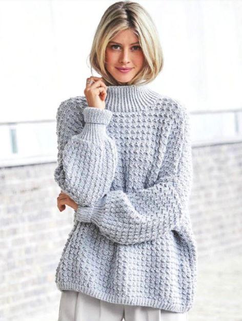 вязаный пуловер оверсайз