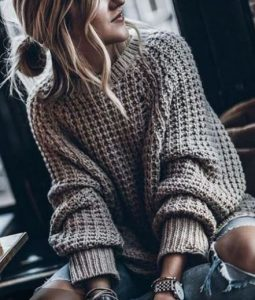 простые свитера спицами