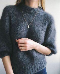 свитер лицевой вязкой