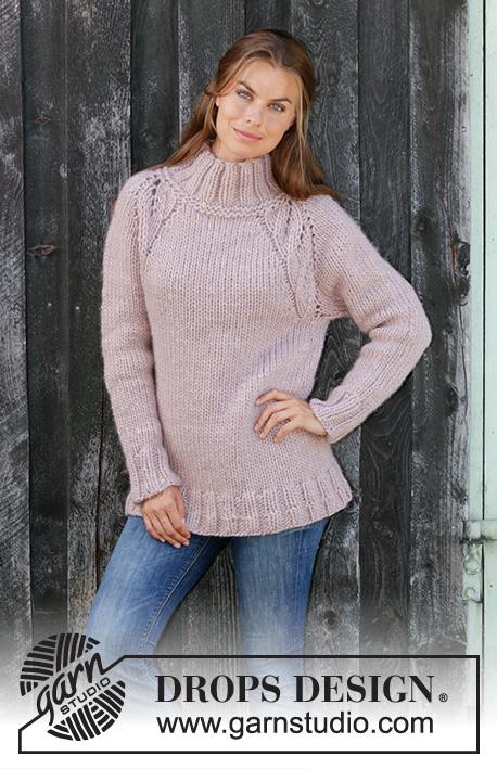 свитер реглан спицами схема