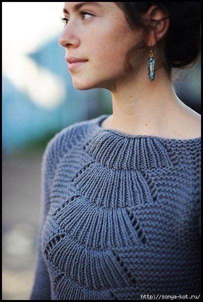 связать женский пуловер