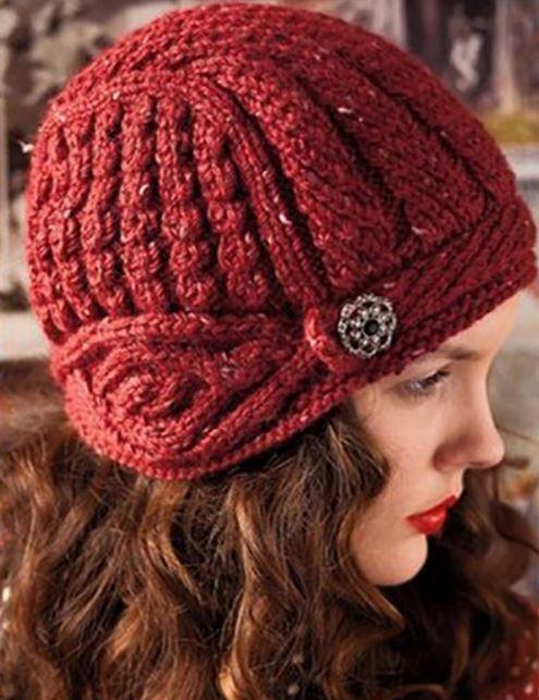Вязание шапок для женщин за 50 лет