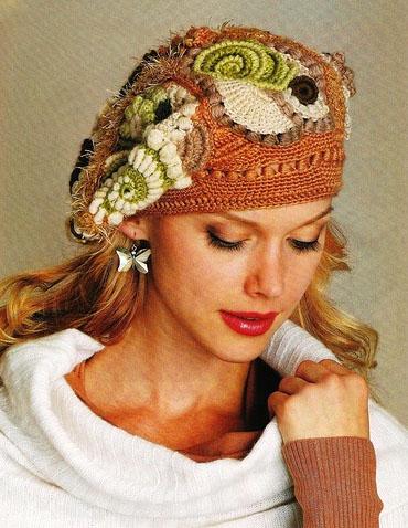 шапок женских схемы, Шапки