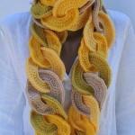 оригинальные вязаные шарфы