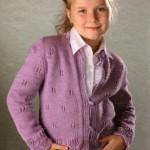 Вязание для детей: Вязаная кофта для девочки спицами