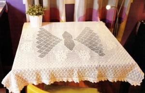 вязание скатертей