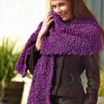 вязаные модные шарфы