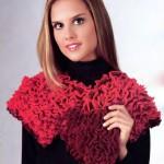 вязаные шарфы шали