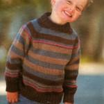 Вязание для детей: Вязаный пуловер для мальчика
