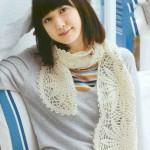 вязаный шарф своими руками