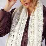 вязаный шарф трансформер