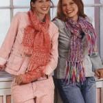 женские шарфы вязаные спицами