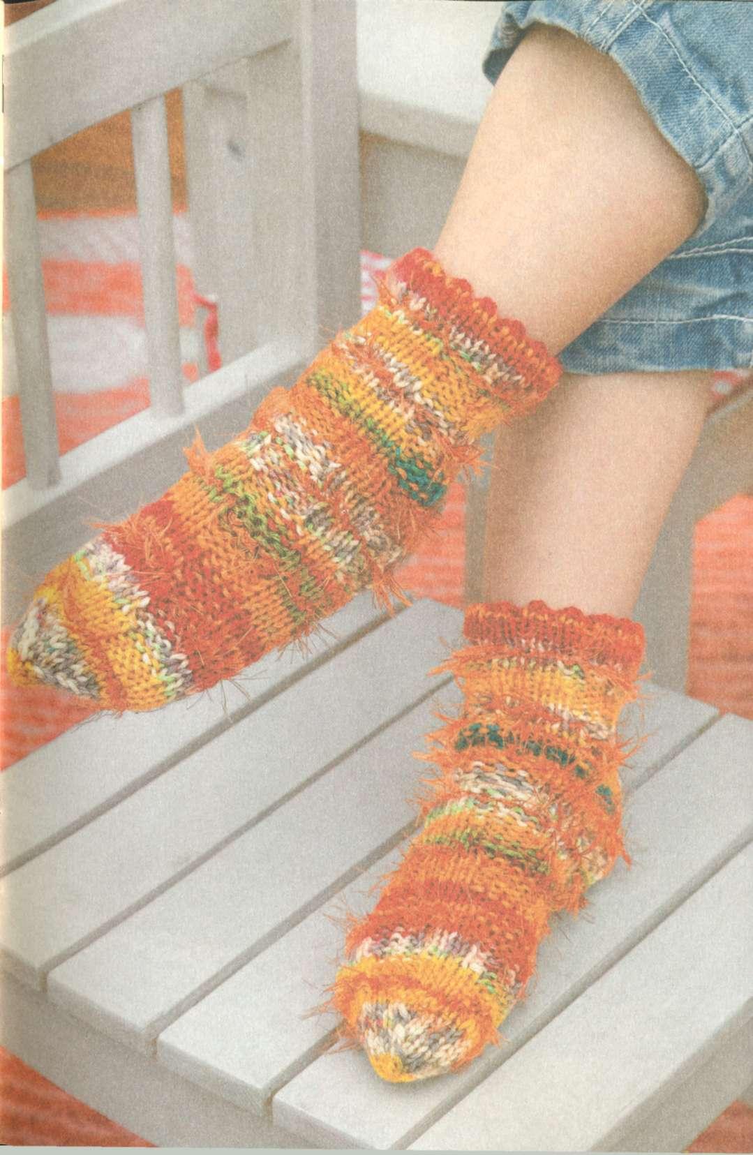 Детские вязаные носки – разноцветное чудо