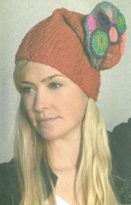 Модная женская вязаная шапочка крючком