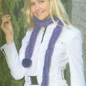 шарф спицами