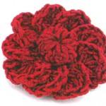 Вязаные цветы крючком с описанием. Махровый мак