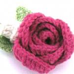 Вязаные цветы со схемами: 2 варианта вязания розы