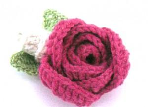 вязаные цветы со схемами 2