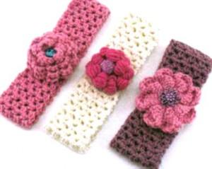 вязаные повязки на голову для девочек
