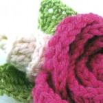 Вязаный цветок крючком — схема вязания розы