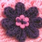 Вязаный цветок — схема вязания маргаритки