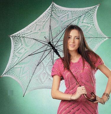 Вязаные зонты крючком (10 моделей зонтиков со схемами)