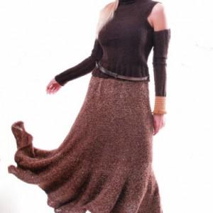 юбка вязаная спицами зимняя