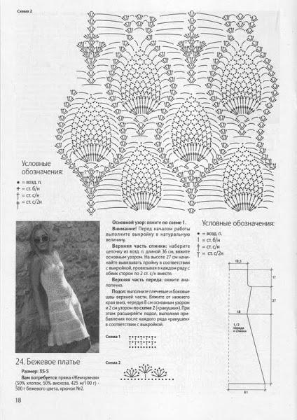 летние вязанные платья 1