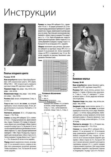 модные вязаные платья 2013 1
