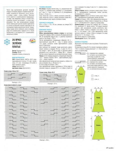 связать модное платье спицами 1