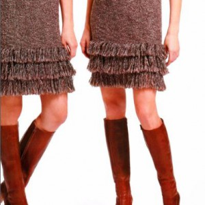 вязаная юбка на зиму