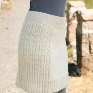вязаная юбка спицами на зиму