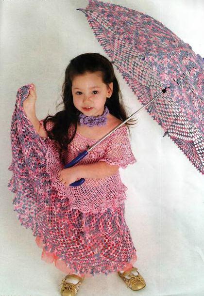 вязание зонтиков