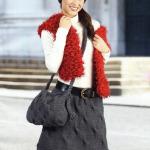 Вязаные зимние юбки спицами — 7 моделей